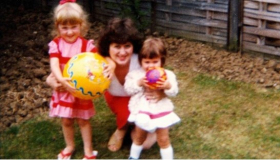 Danielle Gill with her mum and sister
