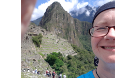 Nona Toothill at Machu Picchu