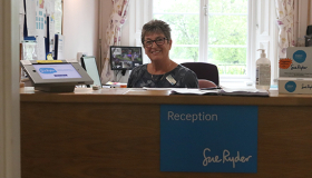 Lead Receptionist Janet Burgess volunteering at St John's Hospice