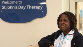 Physiotherapist Funmi Shitta-Bey at the St John's Day Therapy service