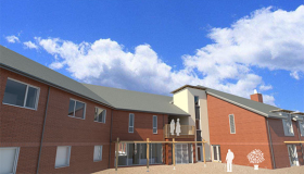 Image of artist's impression of Sue Ryder Neurological Centre Lancashire