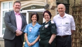 Paramedic students from the University of Bedfordshire have been invited into Sue Ryder St John's Hospice