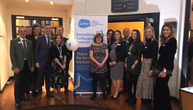 Dave Cant, far left, and Sue Ryder Leckhampton Court shortlisted volunteers and staff pictured at the Incredible Colleagues Awards 2019