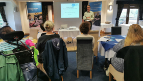 Image of neuro commissioner event, Sue Ryder Centre Director, Terry Mears presenting