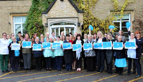 St. John's Hospice Staff & Volunteers Celebrating Their 'Outstanding' Rating