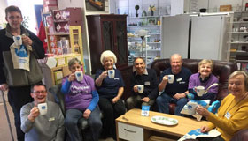 Sue Ryder volunteers at the Bury St. Edmund charity shop.