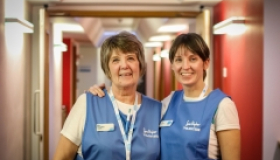 Two volunteers at Sue Ryder Thorpe Hall Hospice