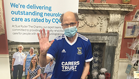 Paul Osborne, a client at Sue Ryder Neurological Care Centre The Chantry