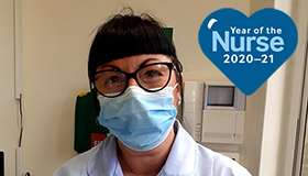 Sue Ryder Leckhampton Court Hospice Nursing Assistant, Maria Griffin, in PPE