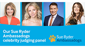 The Sue Ryder Ambassadog judges