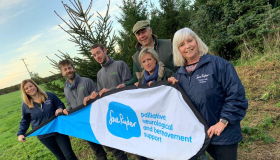 Treecycling at Sue Ryder Thorpe Hall Hospice